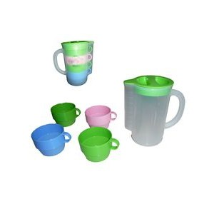 Plastic Water Cup 4 Small Pieces in 1 Set PP Mugs for Traveling